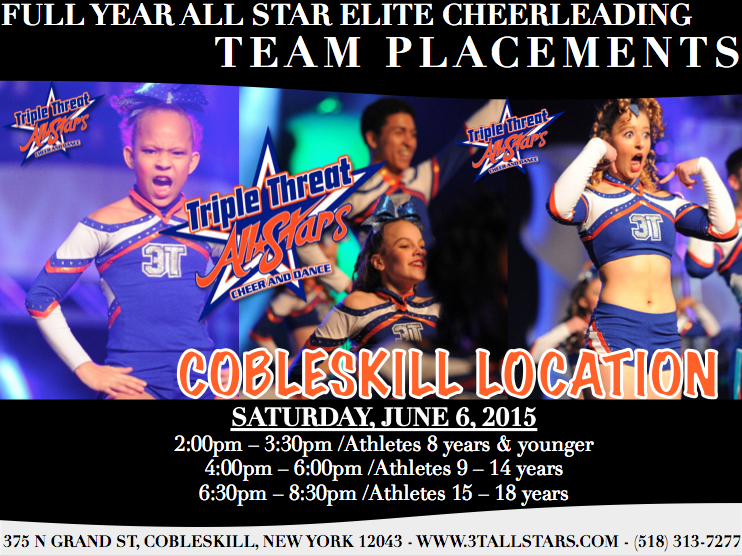 Cobleskill Team Placement Flyer